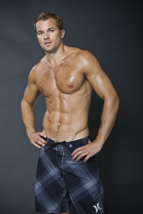 fitness model chris ryan at his revelation fitness shoot with austin